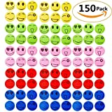 Natural Mosquito Repellent Patches 150 Pack, Thechot Summer Insect Patches Smiling Face Mosquito Stickers for Child Adult