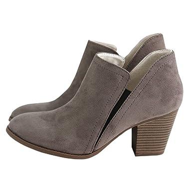 1c2eaafda644 Women s Ankle Boots Low Heels Side Zipper Black Ladies Pointed Toe Booties