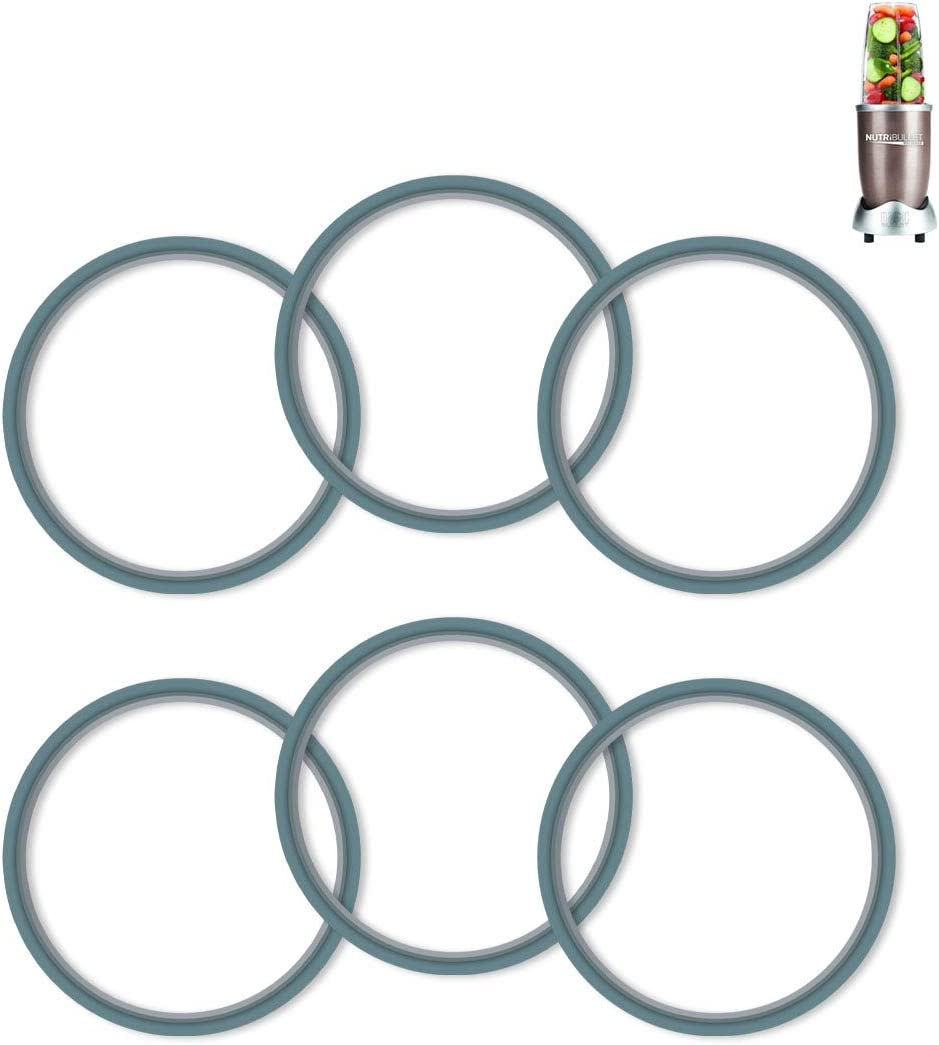 AIEVE Blender Gasket compatible with Nutribullet 600/900 Series, 6 Packs Blender Sealing Ring Gaskets Blender Silicone Ring O-ring Gasket Seal Replacement compatible with Nutribullet Blender