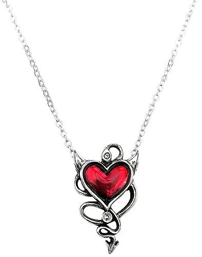 Alchemy Gothic Devil Heart Necklace silver-coloured A3ojSEJK9