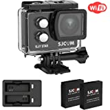 SJCAM SJ7 Star 4K Action Camera WIFI Sports Camera 16MP GYRO image stabilization with 166 Wide-angel 2.0Inch Touch Screen Action Cam Supports External Microphone,Extra 2 batteries +Charger Included