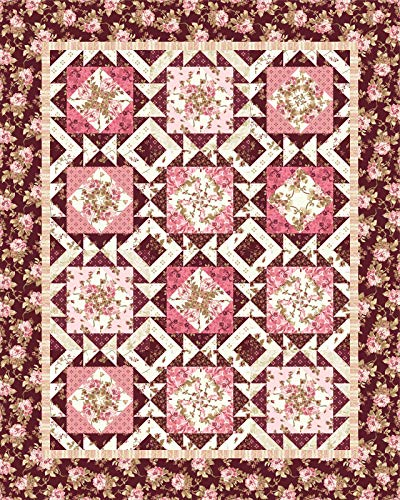 Burgundy & Blush Quilt Kit Maywood Studio