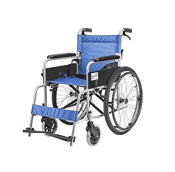 ZQYLQXDT LYX® Silla de Ruedas Manual Silla de Ruedas Ligero Plegable Old Man Carrito Viajes discapacitados Doble Cruzamiento: Amazon.es: Hogar