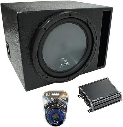 Universal Car Stereo Rearfire Sealed Single 10 Kicker Comp C10 Sub Box 4 Ohm