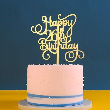 Fine Gold 26Th Birthday Cake Topper Happy 26Th Birthday Cake Topper Personalised Birthday Cards Paralily Jamesorg