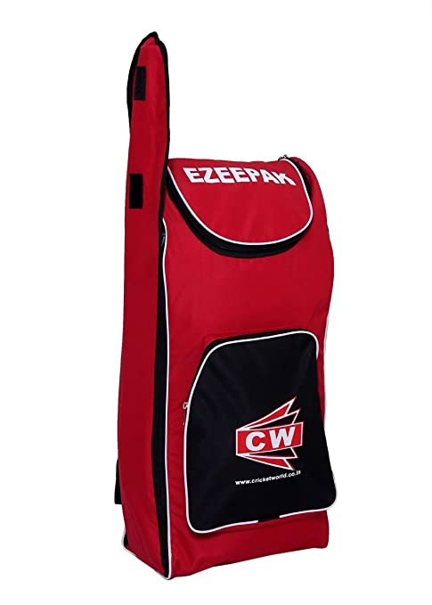 Image Unavailable. Image not available for. Color  C W EZEE PAK Shoulder Cricket  kit Bag Red Black ... f66152413fff5