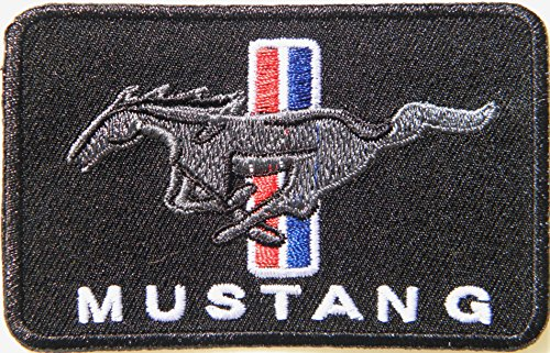 FORD MUSTANG Logo Sign Car Racing Patch Iron on Applique Embroidered T shirt Jacket BY SURAPAN ()