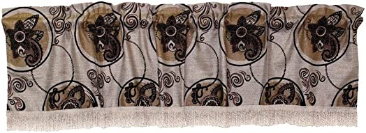 Violet Linen Tivoli Window-Treatment-valances, 60 X 15 , Beige Brown