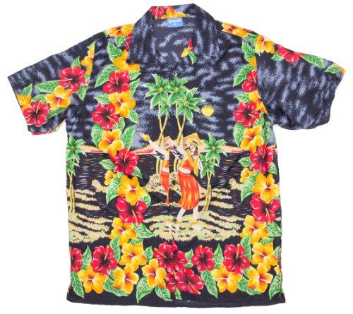 ragstock-mens-hibiscus-hula-dancer-print-hawaiian-aloha-shirt-black-large