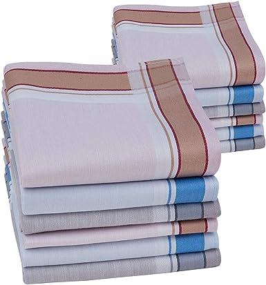HOULIFE - Pañuelos para hombre de algodón puro, 43 x 43 cm, 3 ...