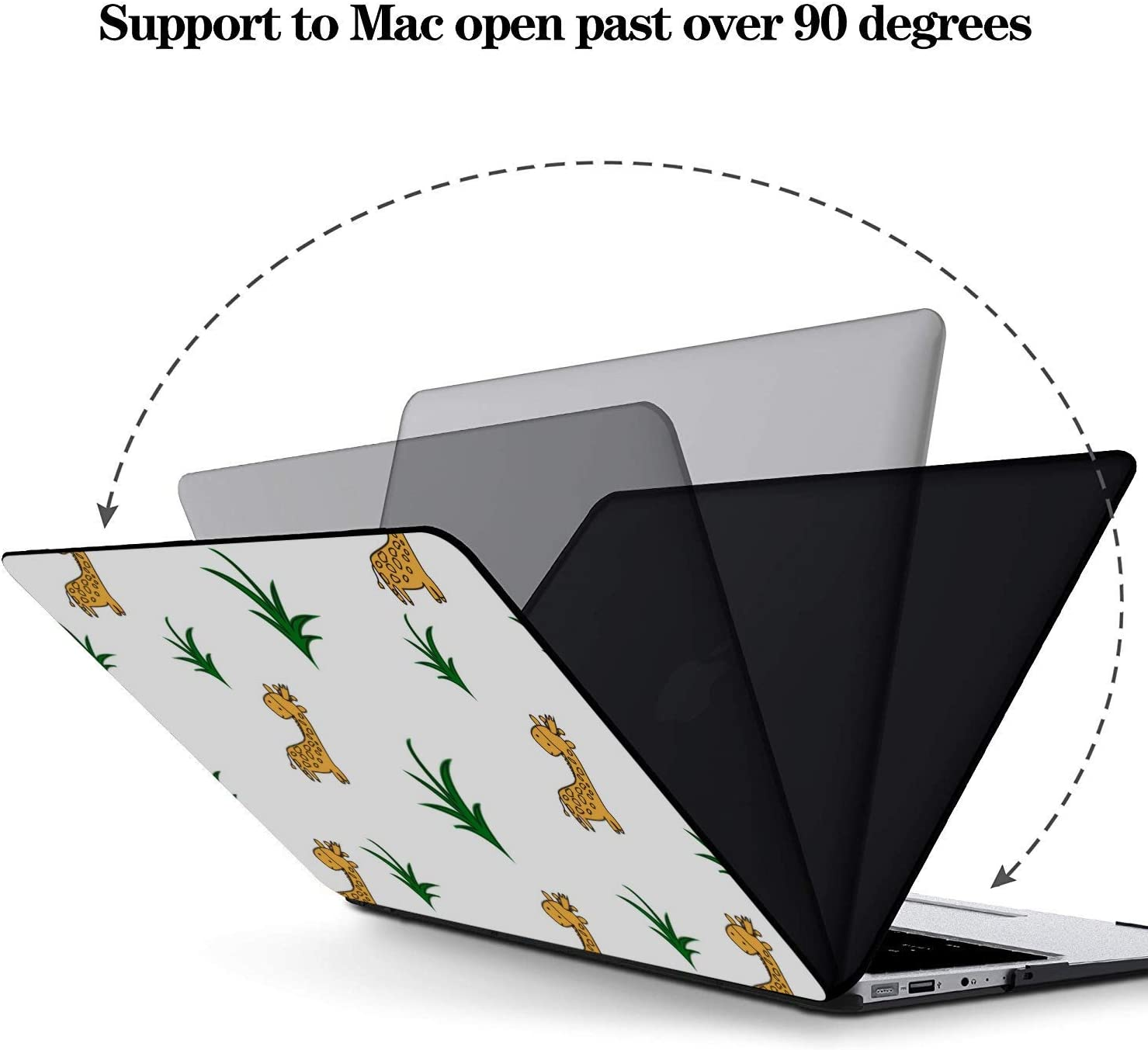 Mac Book Pro Covers Cartoon Yellow Giraffe Family Plastic Hard Shell Compatible Mac Air 11 Pro 13 15 12inch MacBook Case Protection for MacBook 2016-2019 Version