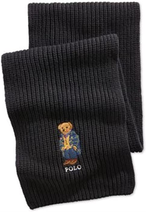 159fb02ad8f9e New Polo Ralph Lauren Ski Bear Hunter Navy LIMITED EDITION Scarf  EMBROIDERED SKI at Amazon Men s Clothing store
