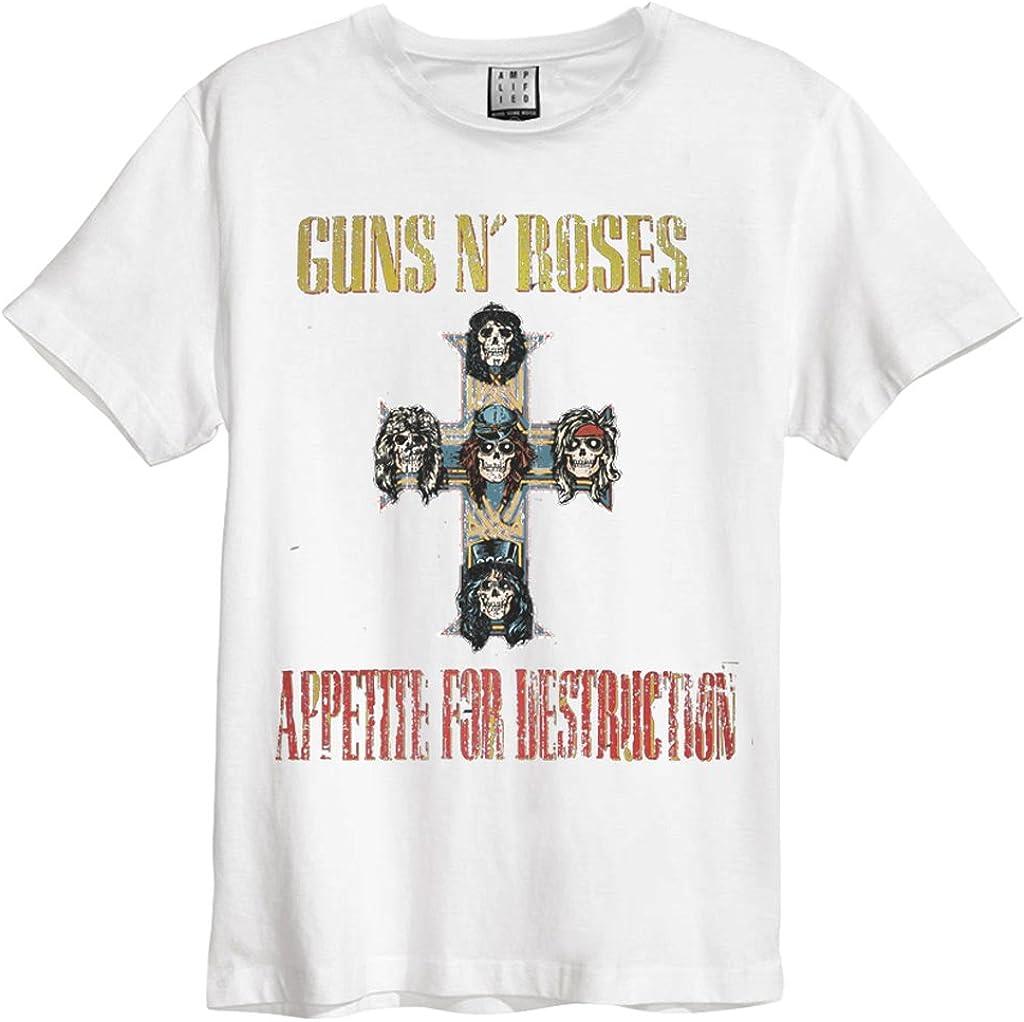 AMPLIFIED GUNS N ROSES APPETITE FOR DESTRUCTION CHARCOAL MEN/'ST SHIRT