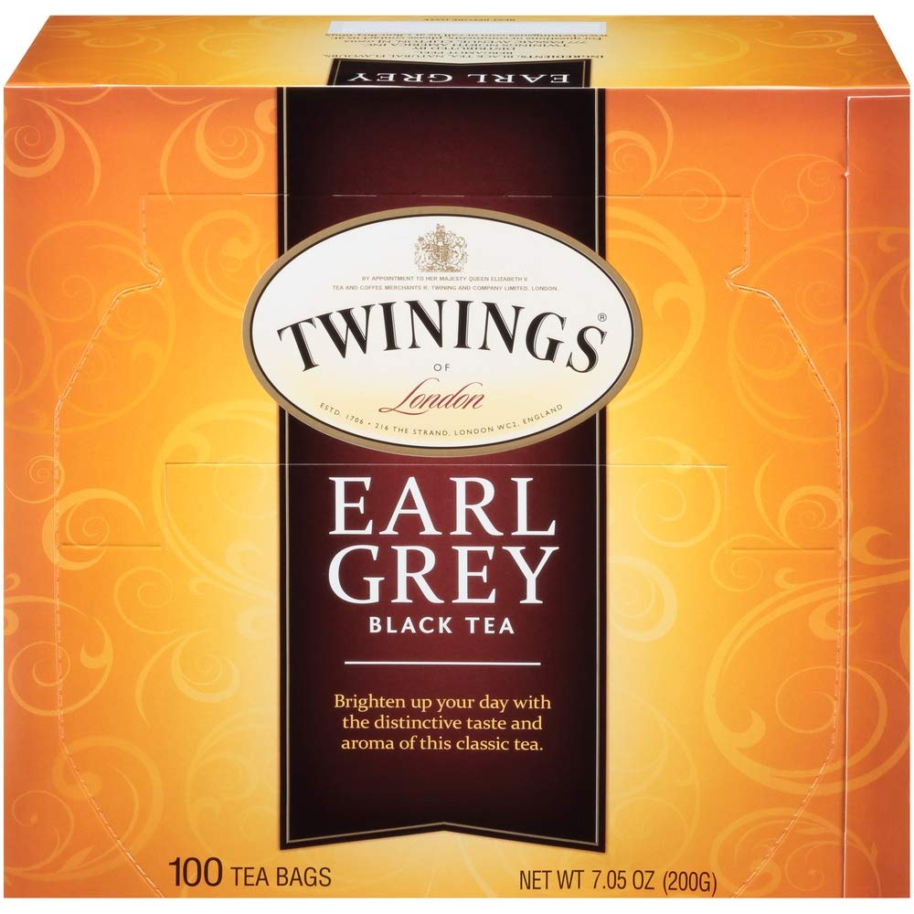 Twinings of London Earl Grey Black Tea Bags, 100 Count (Pack of 1)
