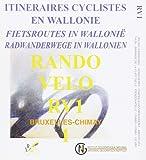 RV 1 Radwege Wallonien Brüssel / Chimay / Rando Velo  1 : 50 000: Kartenausschnitte mit Höhenprofilen sowie Tourenbeschreibungen mit Farbfotos