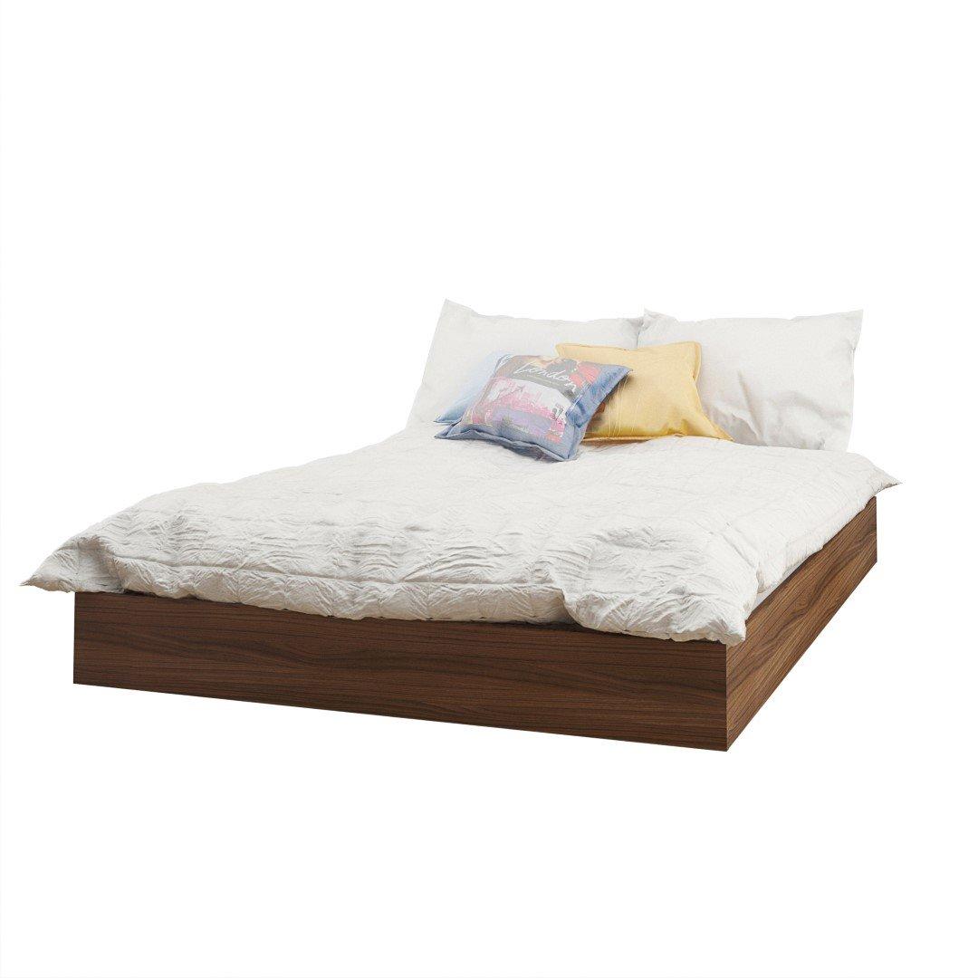 Cheapest Platform Bed Part - 47: Amazon.com: Nexera 345431 Alibi Full Size Platform Bed, Walnut: Kitchen U0026  Dining