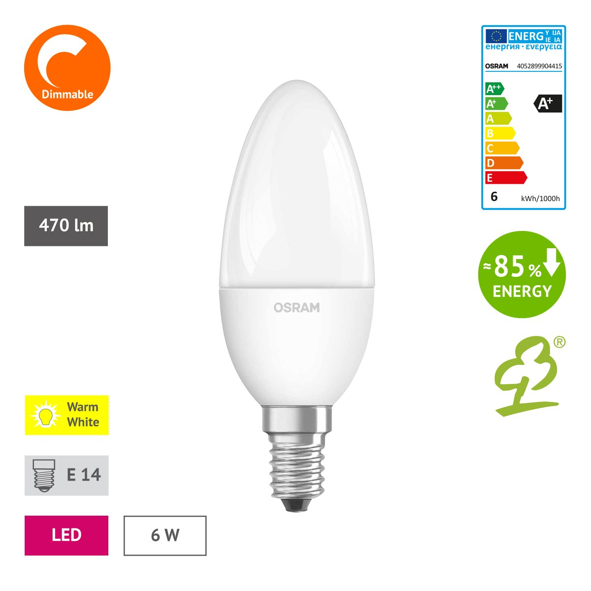 Osram led superstar classic b in kerzenform mit e14 sockel osram led superstar classic b in kerzenform mit e14 sockel dimmbar ersetzt 40 watt matt warmwei 2700 kelvin 6er pack 4052899904446 amazon parisarafo Image collections
