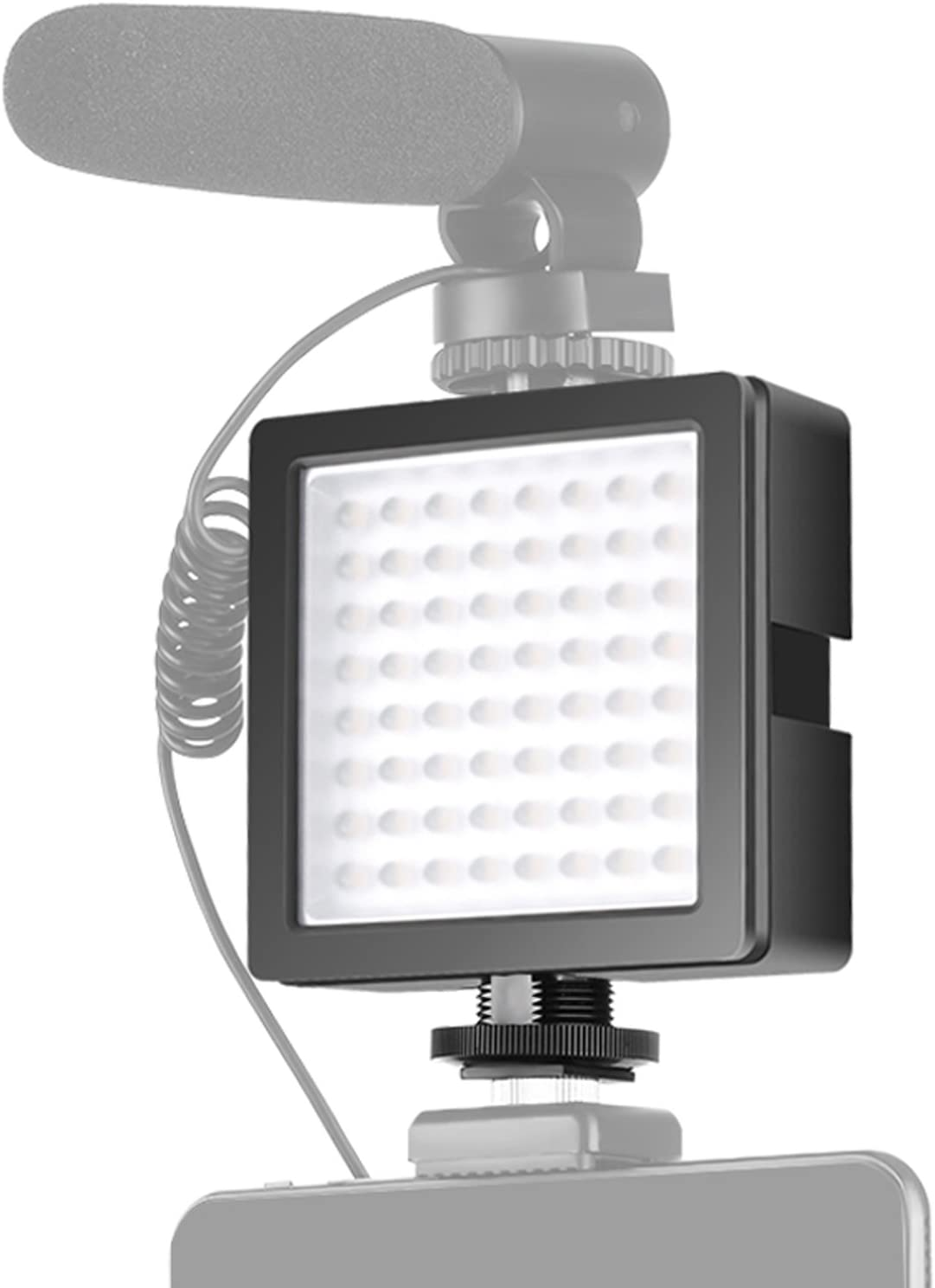 Olympus DSLR Neewer 3-Way Expandable 64 LED Light Panel On-Camera Video Light with 3 Expansion Joint Interface 5600K for Studio//Outdoors Lighting for Canon Nikon Battery NOT Included Sony PL100