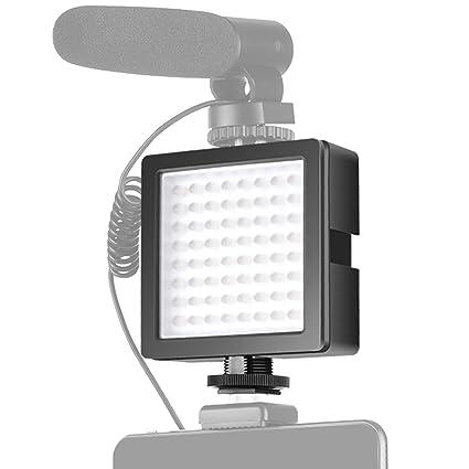 Neewer 3 Vías Panel Luz Expansible de y 64 LED Luz Video en Cámara con 3 Interfaz de Junta de Expansión 5600K para Iluminación Estudio para Canon, ...