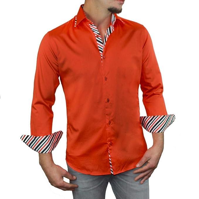 Amazon.com: suslo Couture de los hombres mikino botón ...
