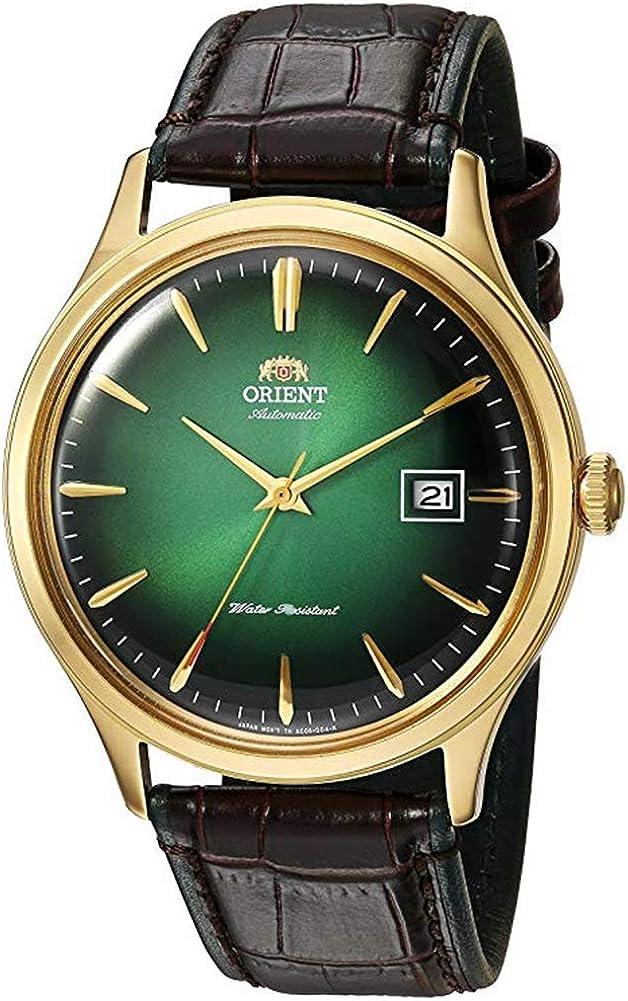 Orient 'Bambino Version IV' Reloj de Vestir japonés automático de Acero Inoxidable y Cuero