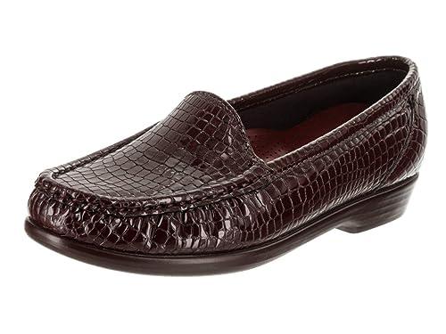 d92faa266c99f SAS Women's Simplify-C - Wide Brown Croc Slip-On Shoe 10 Wide Women ...