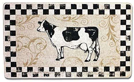 Amazon.com: Dairy Cow Kitchen Rug, Country Accent Rug 23.5 ...