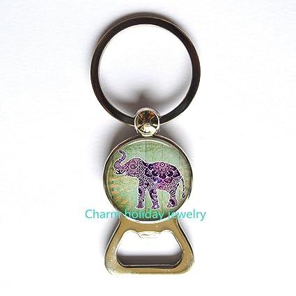 Elephant Bottle Opener Keychain Charm KeychainElephant