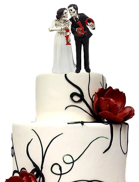 Amazon.com: Ebros Day Of The Dead Wedding Skeleton Bride & Groom ...