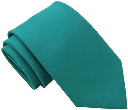 0b8b8524f3c6 Plain Teal Tie: Amazon.co.uk: Clothing