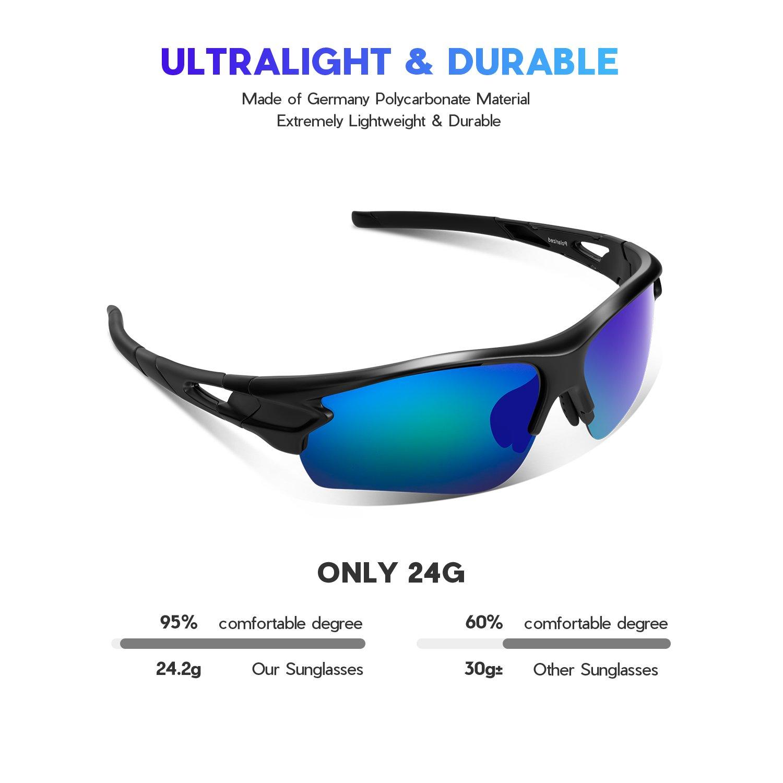 Tac Polarized sports sunglasses for Men Women Youth Baseball Military Motorcycle Fishing