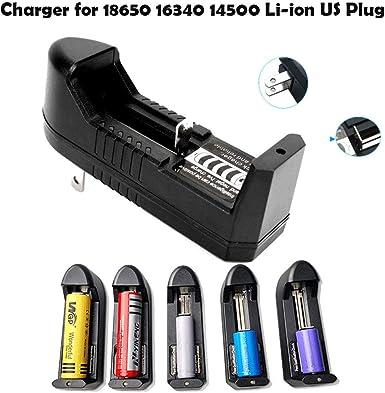 3.7V Smart Universal Li-ion Battery Charger For 18650 16340 14500 26650 US Plug