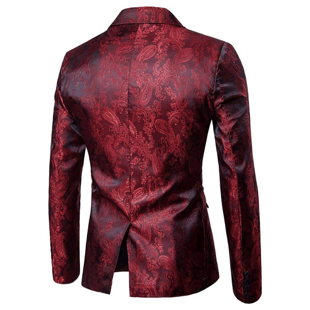 ... HaiDean Fascino Uomo Casual Suit Button Fit One Blazer Tops Coat Casual  Moderna Jacket Tops Blazer ... 8178f4180c6