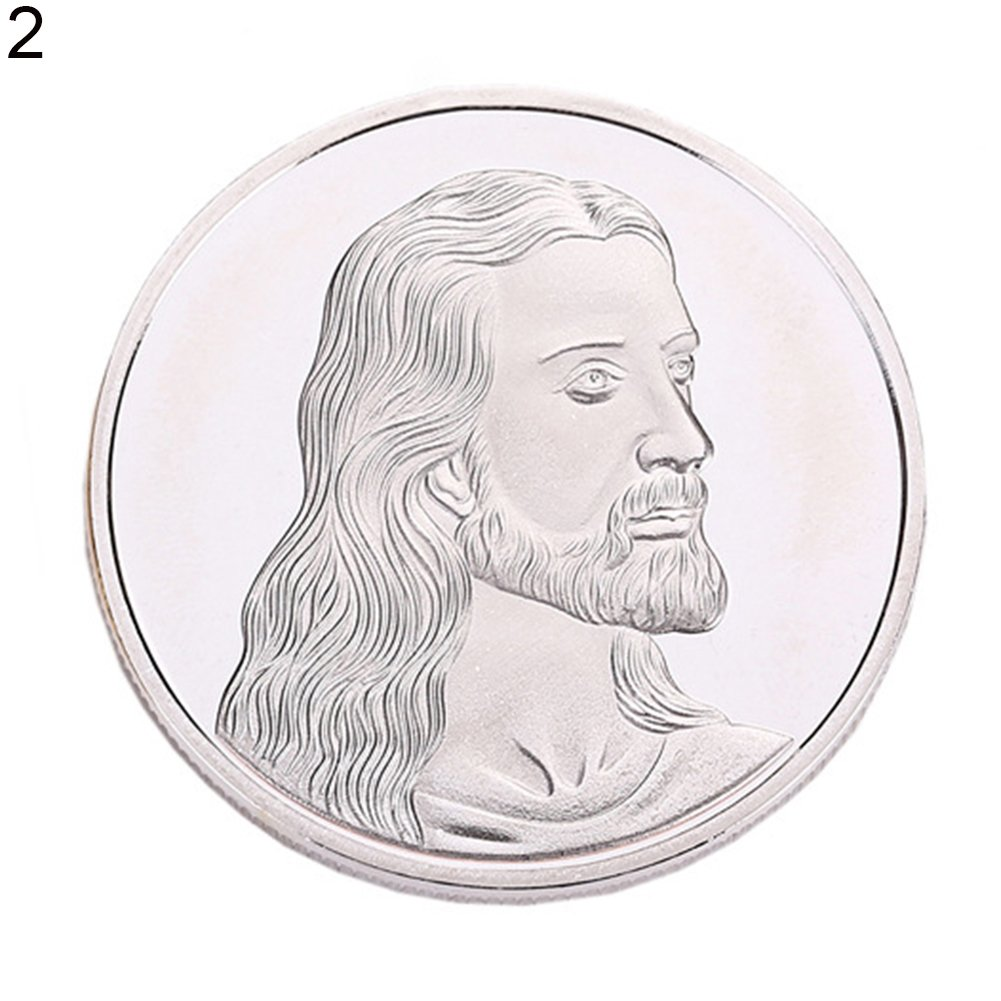 Connoworld Jesus Holy Alloy Commemorative Coin Collection Gift Christian Exquisite Christ - Silver