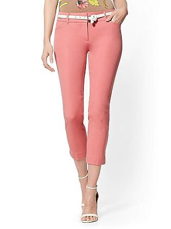 ae3679a4744b Amazon.com: New York & Co. Women's Audrey Crop Slim Leg Pant: Clothing