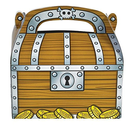 Rhode Island Novelty Treasure Chest Party Treat Boxes | One Dozen