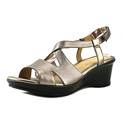 7a1d3eaf124 Naturalizer Women s Villette Leather Open Toe Casual Slingback Sandals (7 W  US