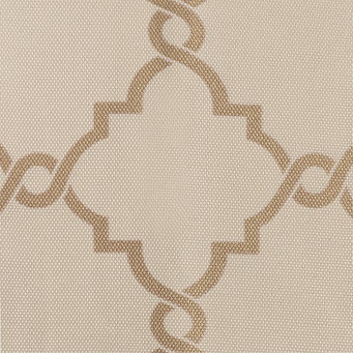 Madison Park Saratoga Room-Darkening Curtain Fretwork Print 1 Window Panel with Grommet Top Blackout Drapes for Bedroom and Dorm, 50x63, Beige/Gold (Gold Curtains And Beige)