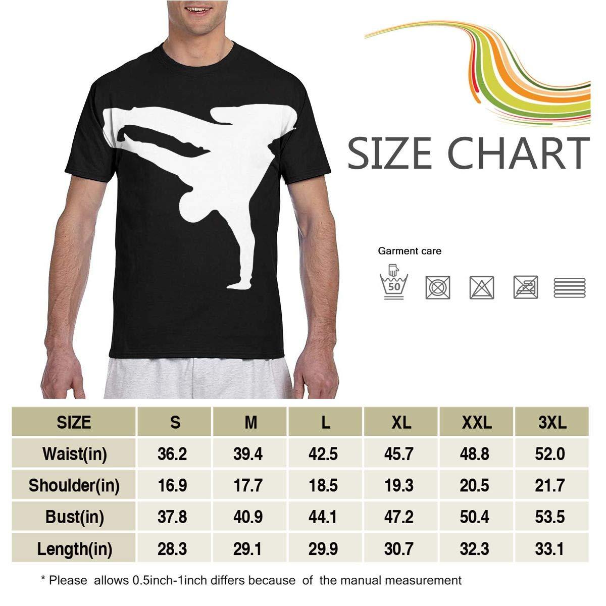 Break Dance Mens Short Sleeve T-Shirt Print Tees Tops