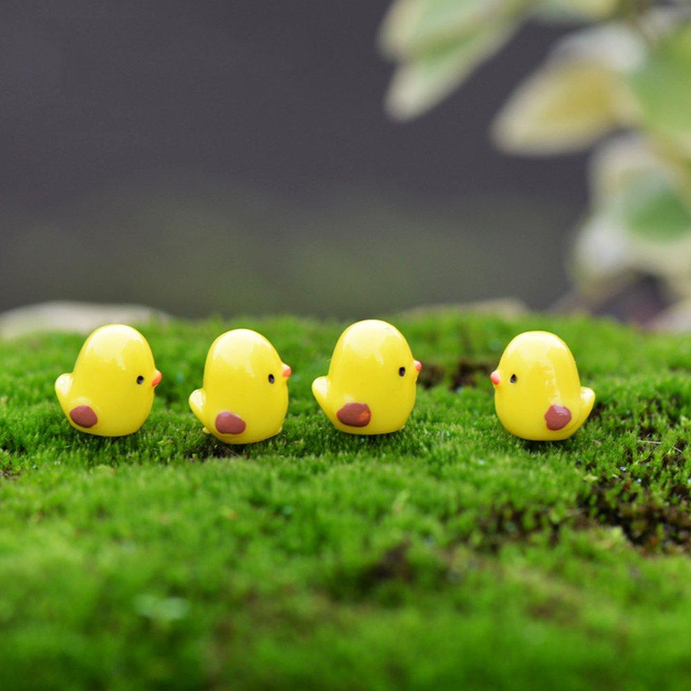 10 adornos de pollo de Pascua de resina adorable decoraci/ón de jard/ín en miniatura de hadas de resina