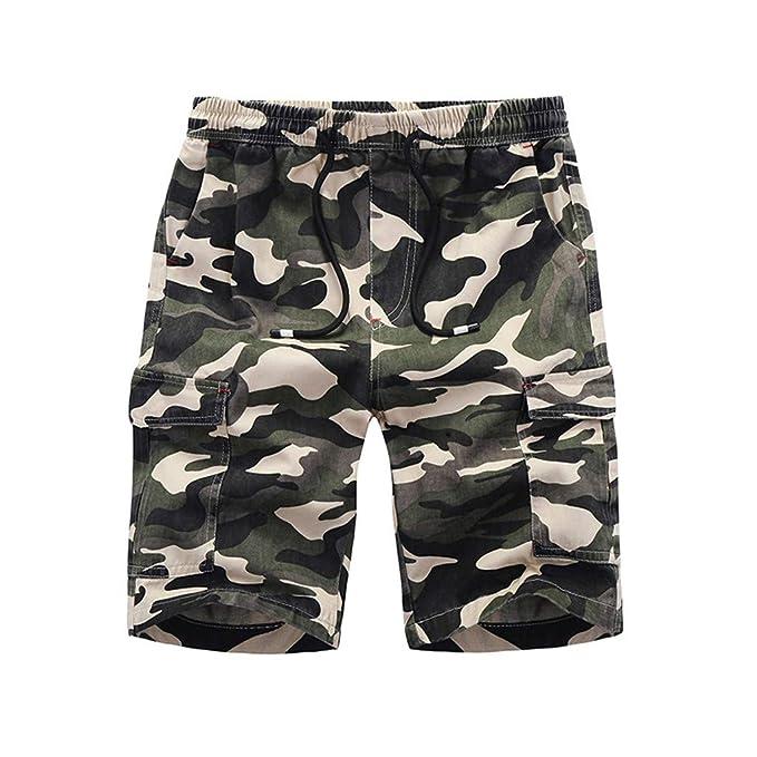 7d277c73bec beautyjourney Bermudas de Camuflaje para Hombre Pantalones Cortos de Carga  Pitillo Pantalones Cortos Deportivos de Verano Sueltos Pantalones Cortos de  ...