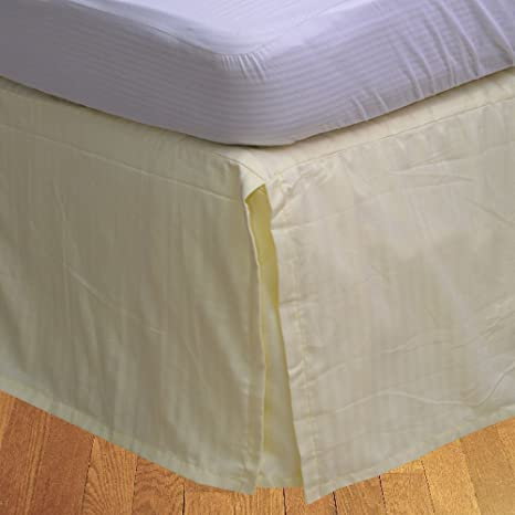 Dreamz ropa de cama 100% algodón 250 hilos elegante acabado 1 pieza Caja plisada falda