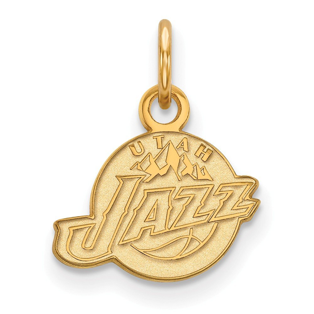 Roy Rose Jewelry 14K Yellow Gold NBA LogoArt Utah Jazz X-small Pendant / Charm