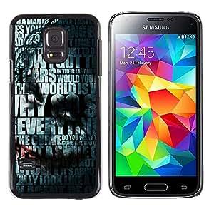 Caucho caso de Shell duro de la cubierta de accesorios de protección BY RAYDREAMMM - Samsung Galaxy S5 Mini, SM-G800 - Joker Tipografía