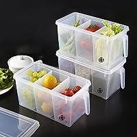 HTB Kitchen Organizer Containers & Food Storage Box With Lids, For Refrigerator, Fridge Organizer & Food Storage Boxes…