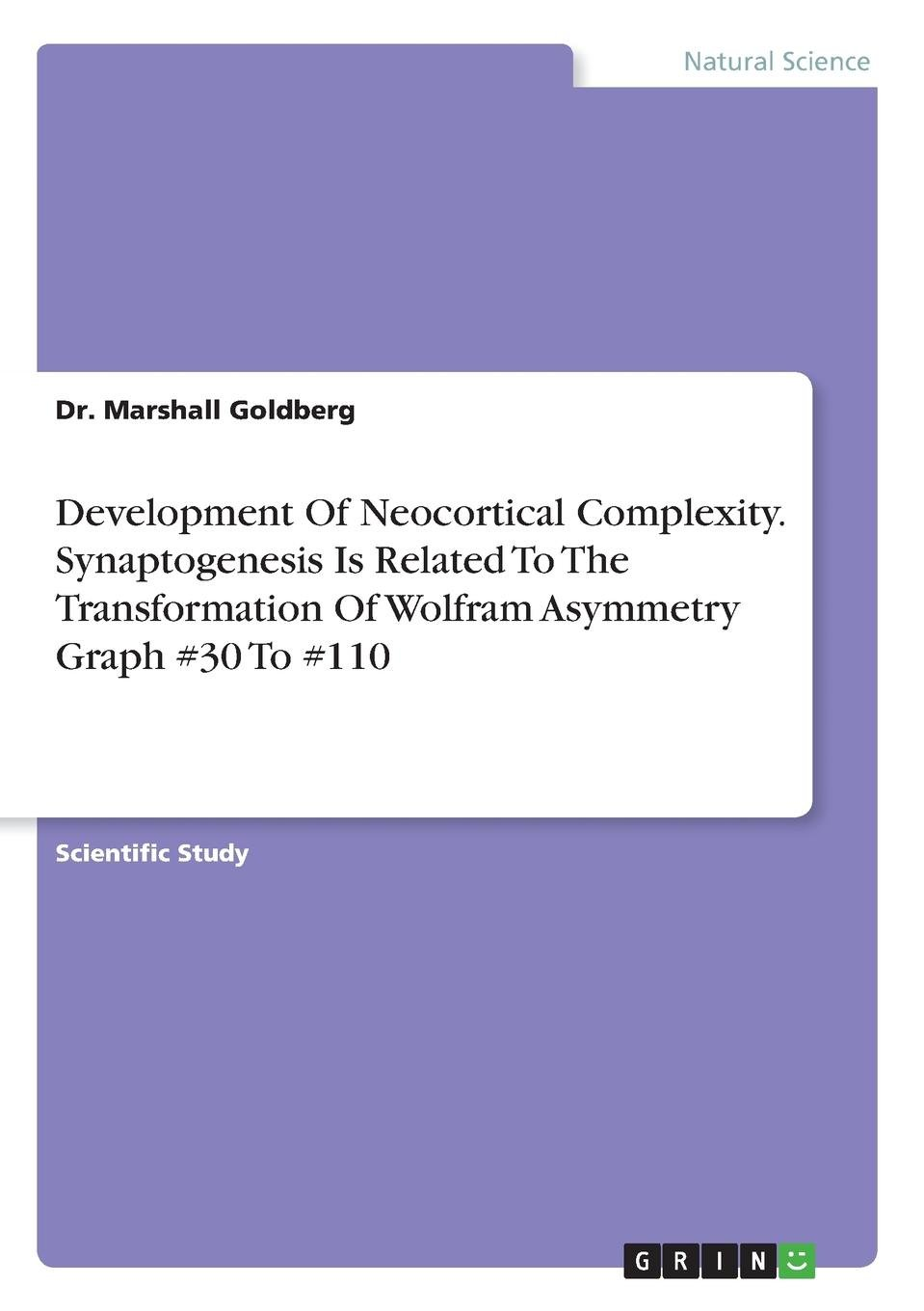 Read Online Development of Neocortical Complexity. Synaptogenesis Is Related to the Transformation of Wolfram Asymmetry Graph #30 to #110 PDF
