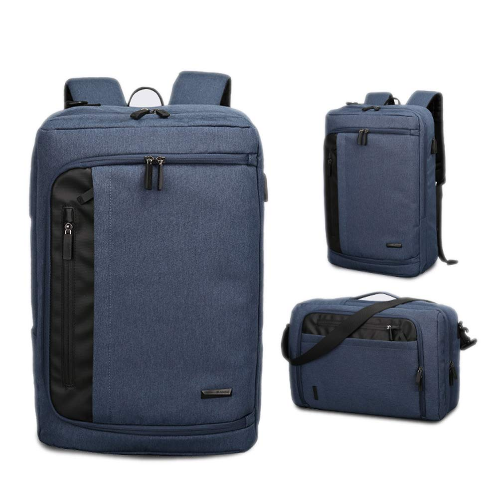 ビジネスバックパック、カジュアルバックパック、メンズラップトップバッグマッサージ、ポータブルメッセンジャーバッグ B07RKW2N1V Lightblue