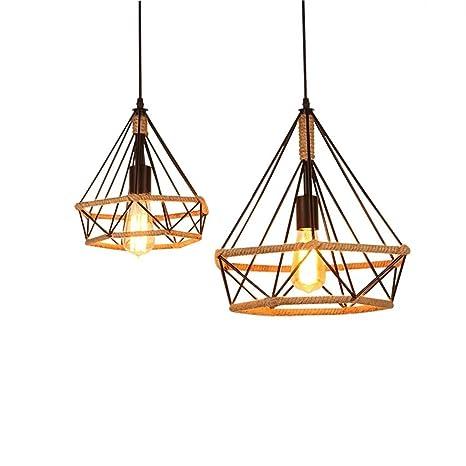 Amazon.com: Moderno Hierro forjado droplight lámpara cuerda ...