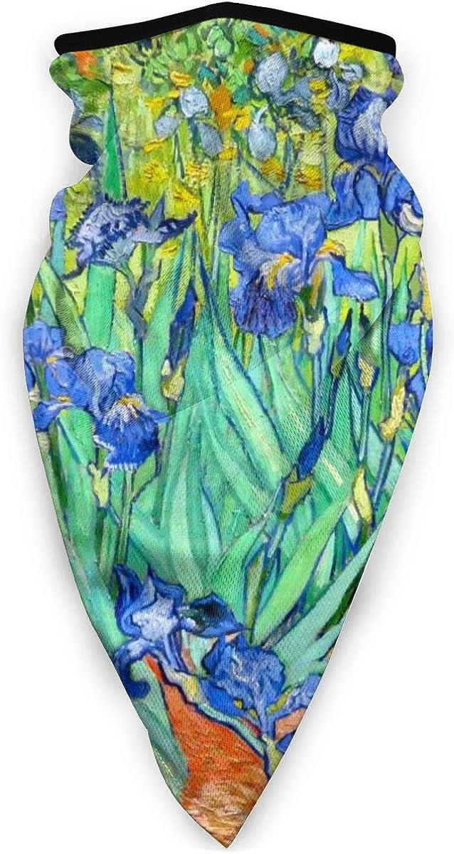 Van Gogh Irises Unisex Adult Outdoors Windproof Mask Dust Sports Face Mask Half Balaclava Mask Cold Weather Bandana Women Men Festivals Gifts