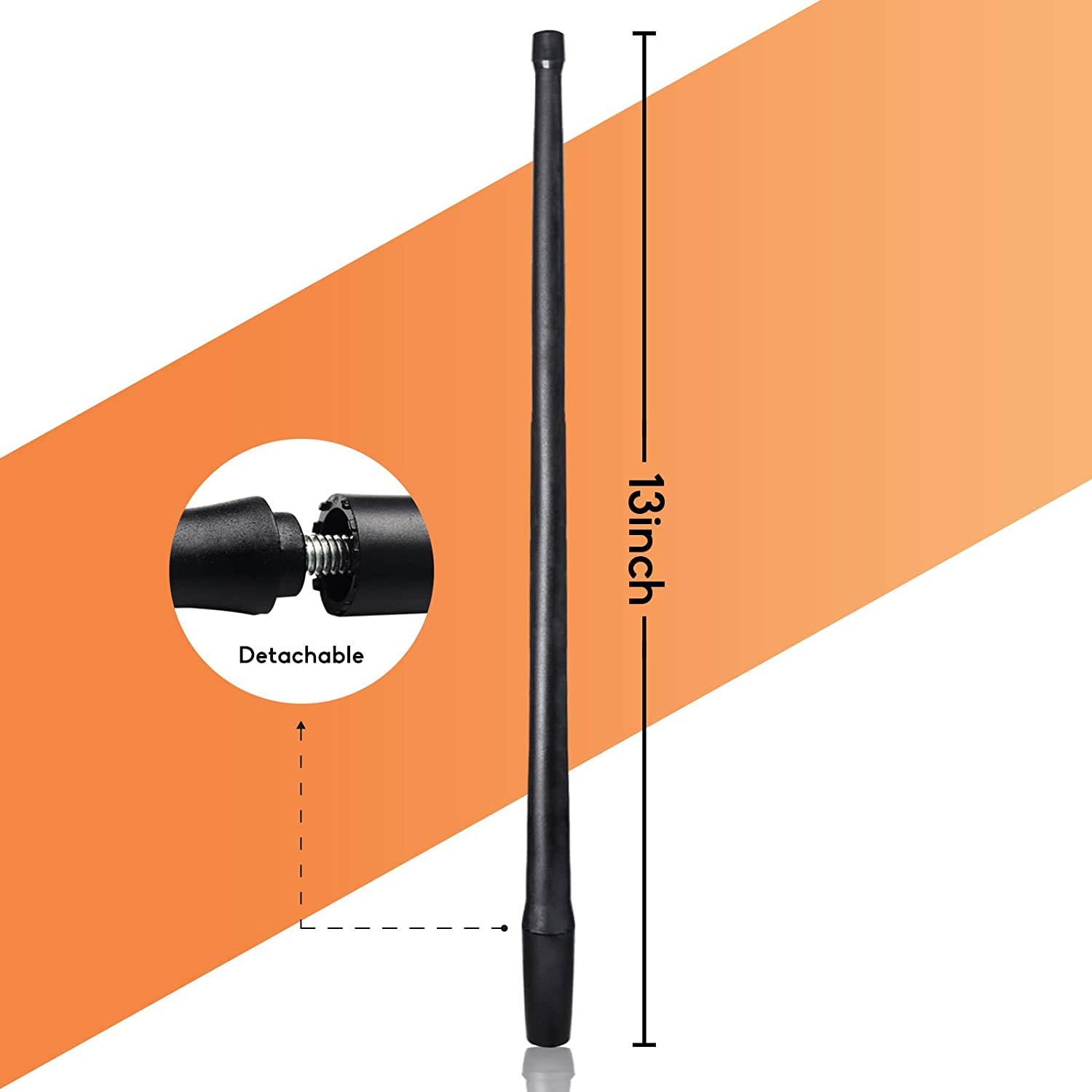 Black DeepRoar Replacement Antenna for Chrysler Town /& Country 2008-2016 Optimized FM//AM Reception 13 Inch PL01